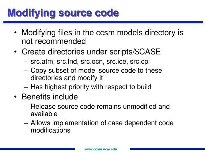 Modifying source code
