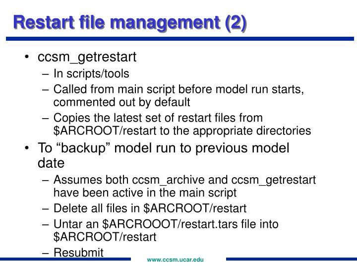 Restart file management (2)