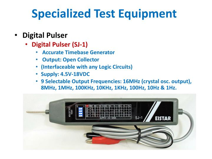 Specialized Test Equipment