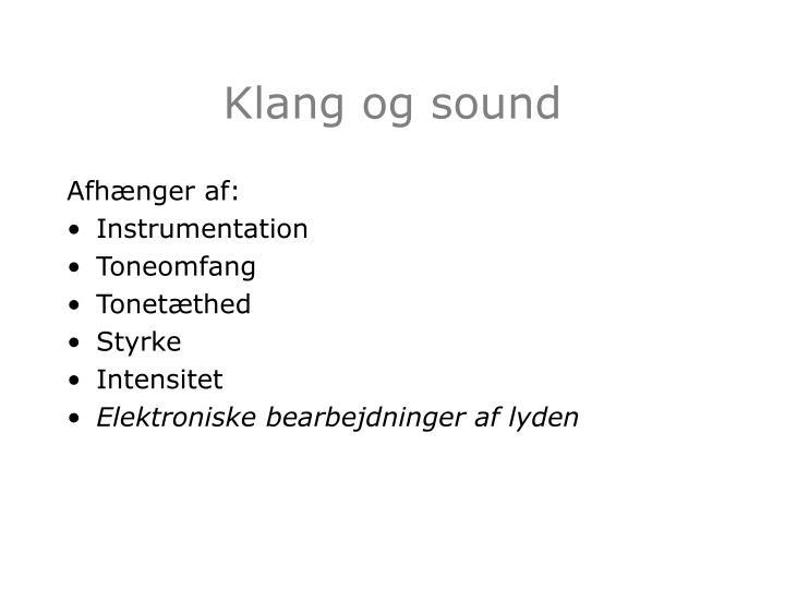 Klang og sound