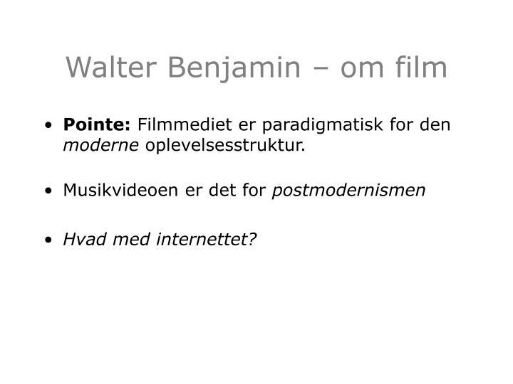 Walter benjamin om film