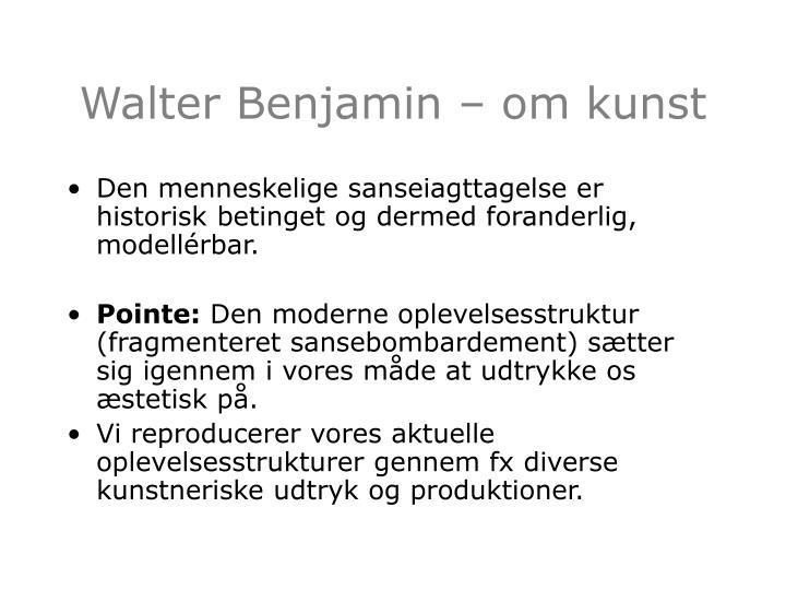 Walter benjamin om kunst