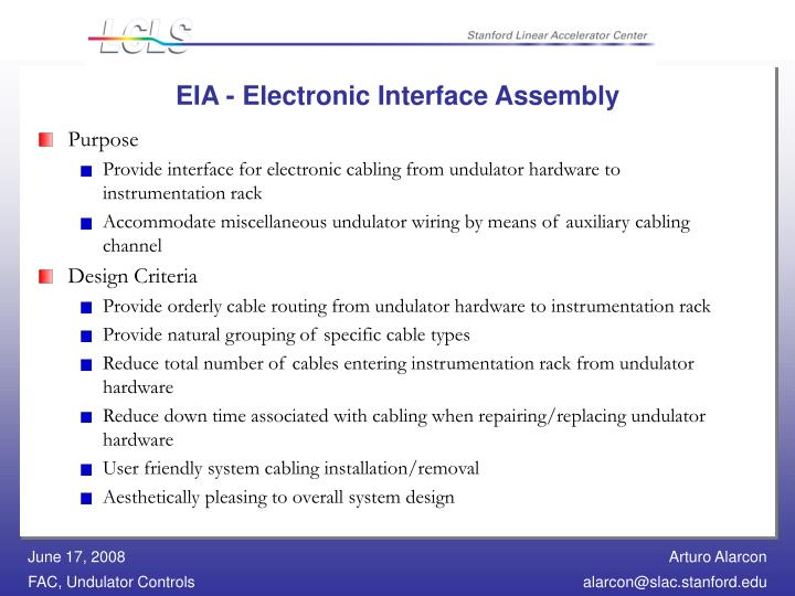EIA - Electronic Interface Assembly