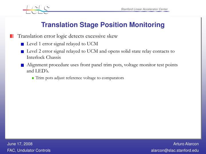 Translation Stage Position Monitoring