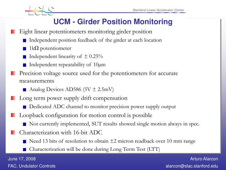 UCM - Girder Position Monitoring