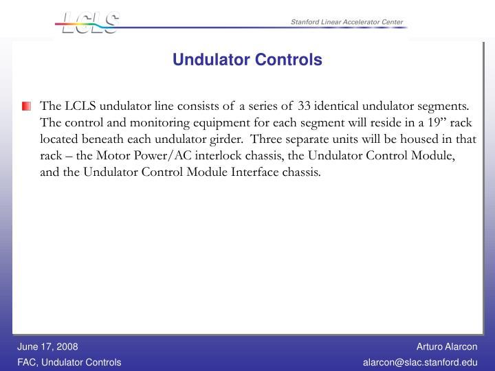 Undulator Controls