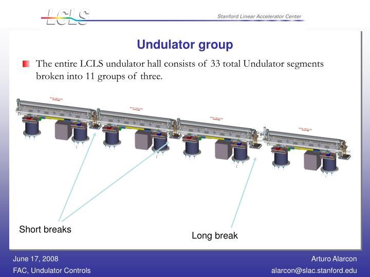 Undulator group