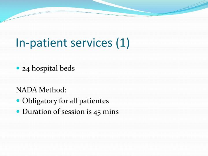 In-patient services (1)