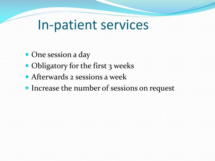 In-patient services