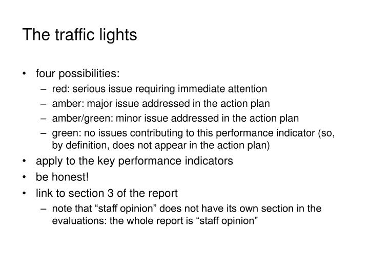 The traffic lights