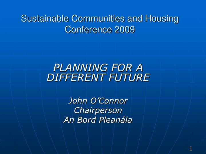 sustainable communities and housing conference 2009 n.