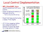 local control implementation