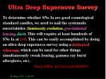 ultra deep supernova survey