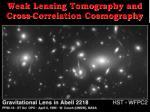 weak lensing tomography and cross correlation cosmography
