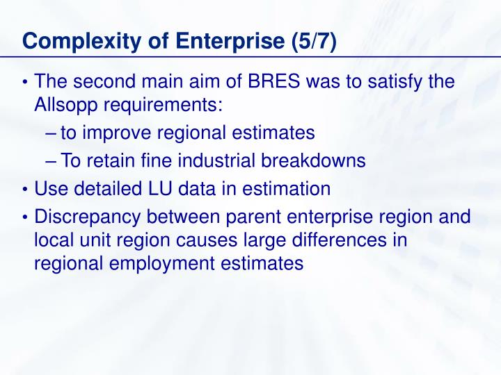 Complexity of Enterprise (5/7)