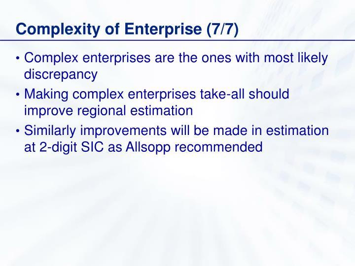 Complexity of Enterprise (7/7)