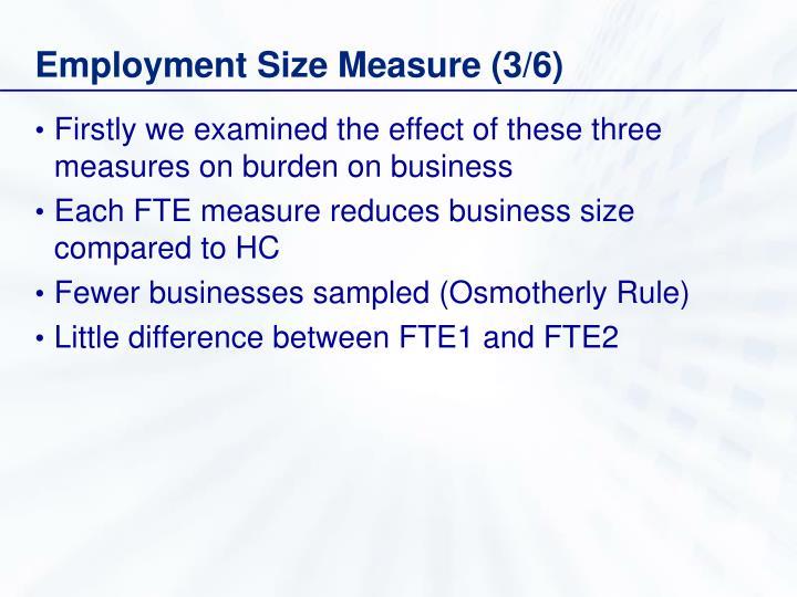 Employment Size Measure (3/6)