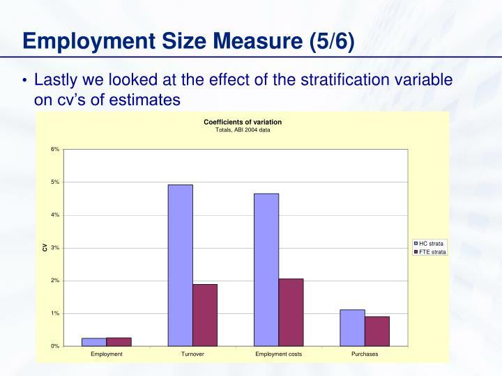 Employment Size Measure (5/6)