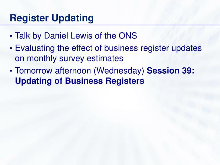 Register Updating