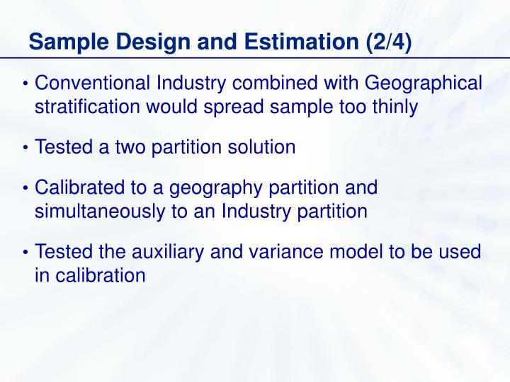 Sample Design and Estimation (2/4)
