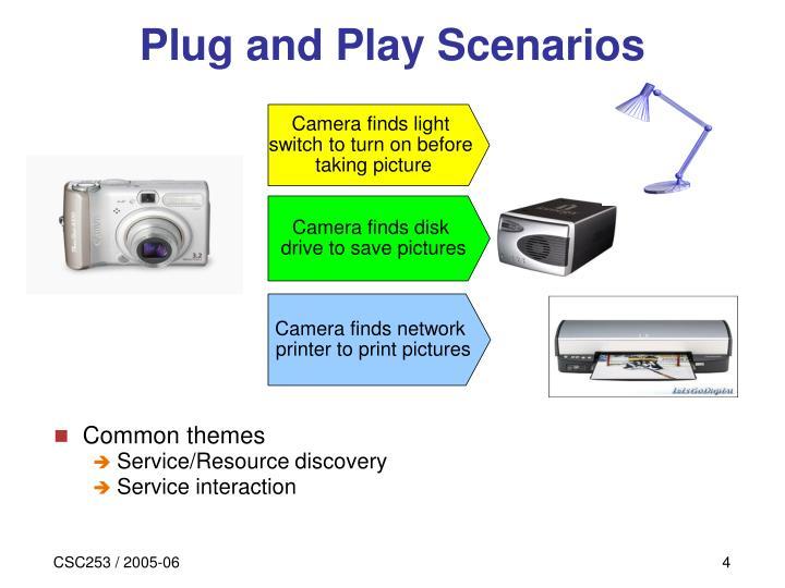 Plug and Play Scenarios