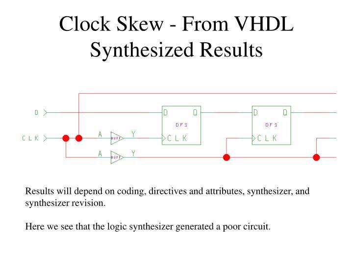 Clock Skew - From VHDL