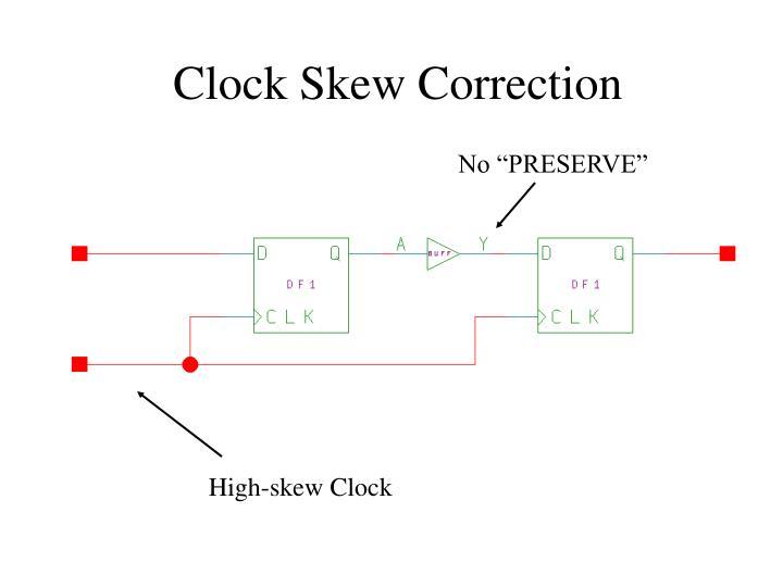 Clock Skew Correction