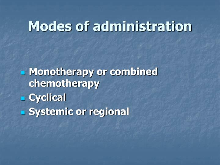 Modes of administration