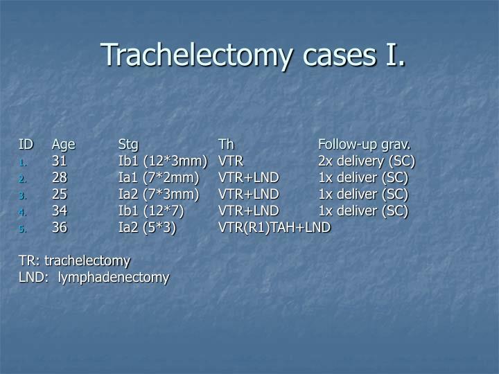 Trachelectomy cases I.
