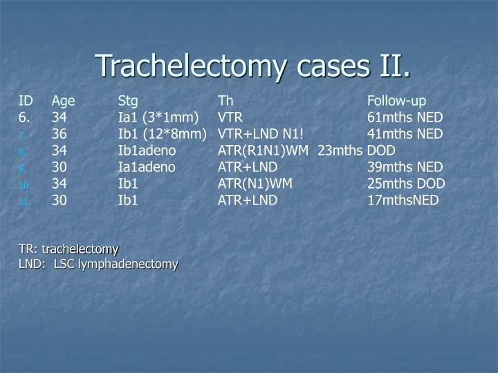 Trachelectomy cases II.