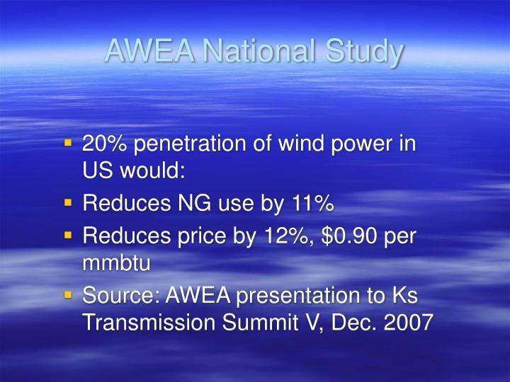 AWEA National Study