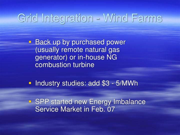 Grid Integration - Wind Farms