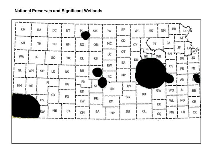 National Preserves and Significant Wetlands