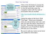 share your learning