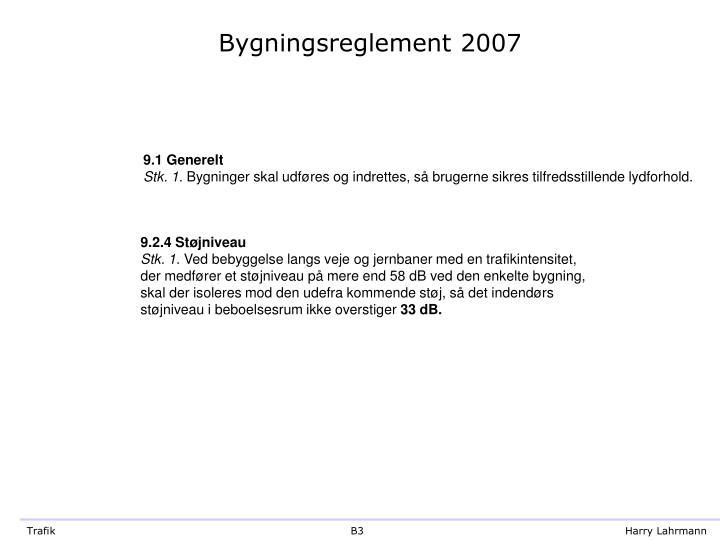 Bygningsreglement 2007