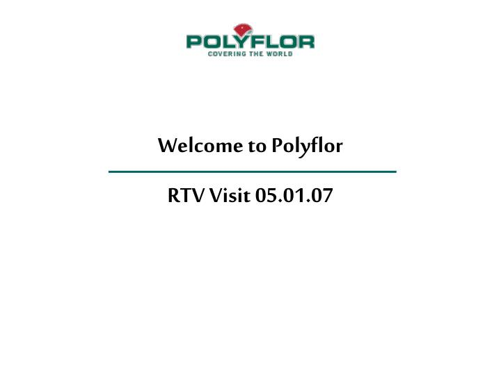 Welcome to Polyflor