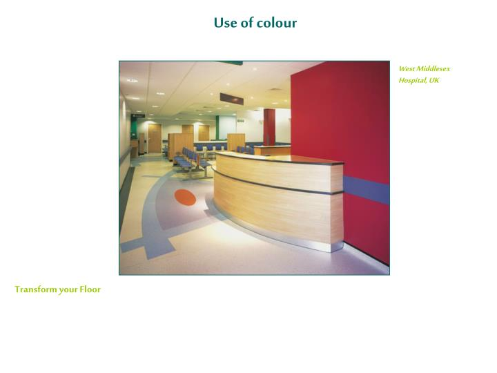 Use of colour