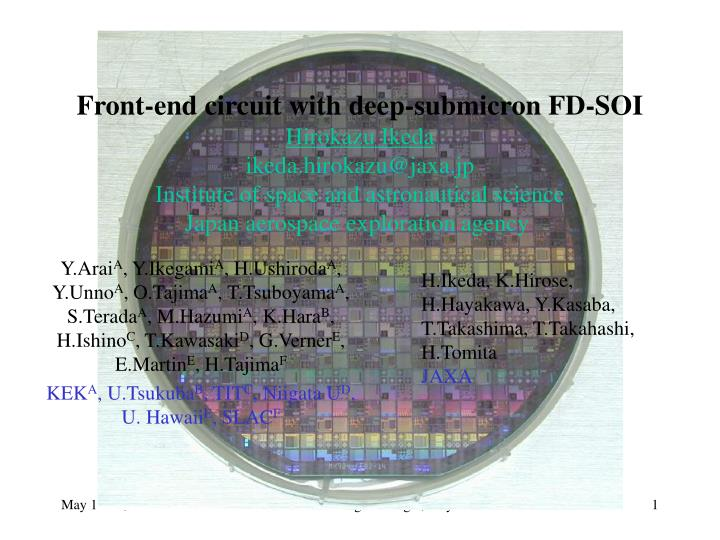 Front-end circuit with deep-submicron FD-SOI