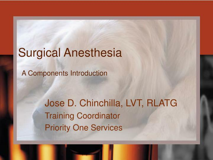 surgical anesthesia n.