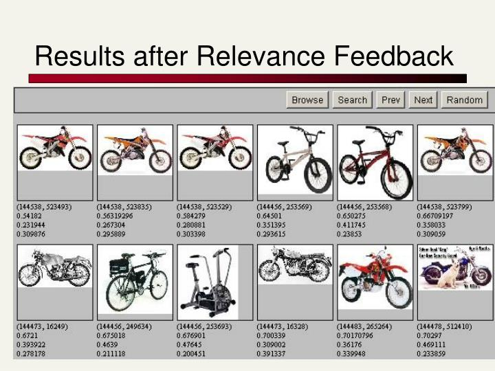 Results after Relevance Feedback