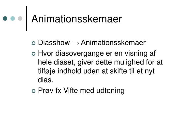 Animationsskemaer