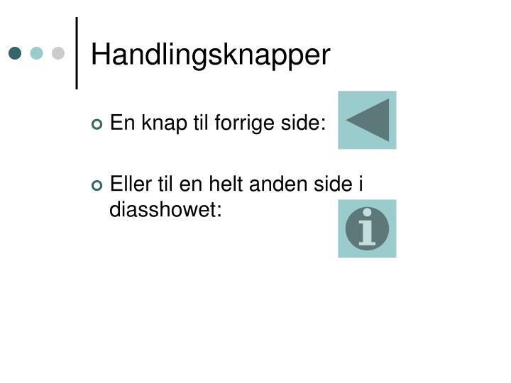 Handlingsknapper