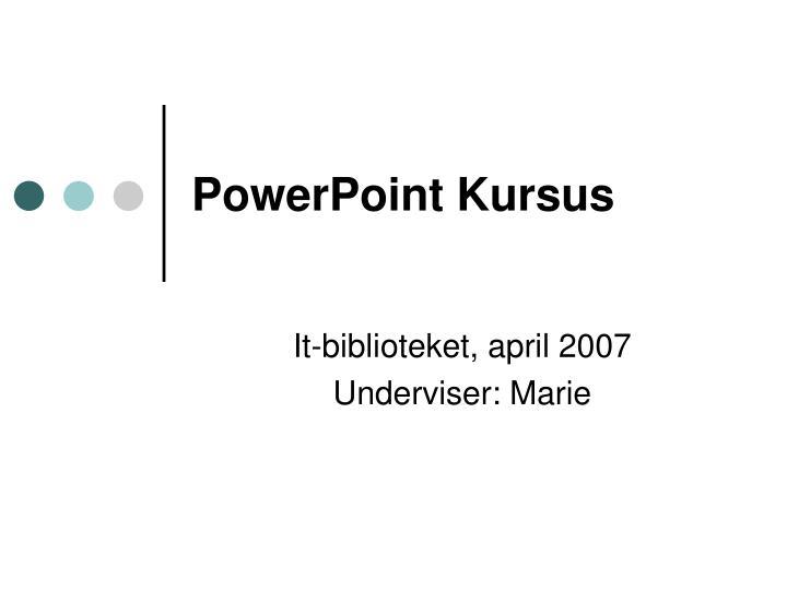 Powerpoint kursus