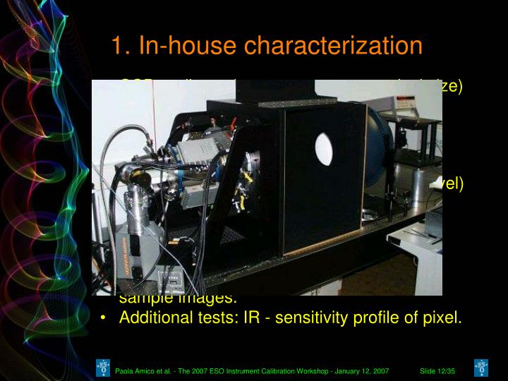 1. In-house characterization