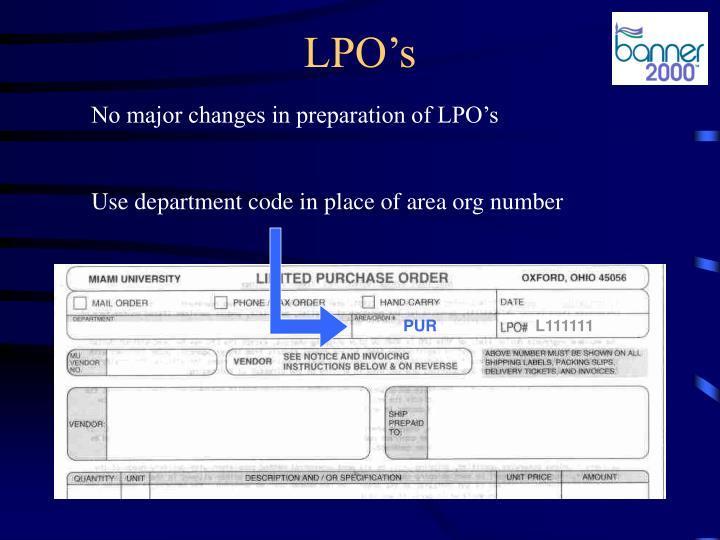 LPO's