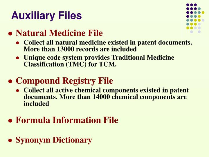 Auxiliary Files