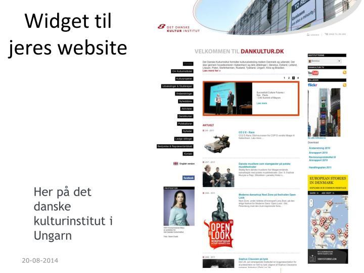 Widget til jeres website