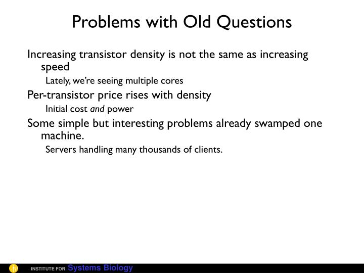 Problems with Old Questions