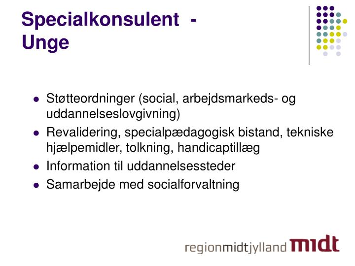 Specialkonsulent  -