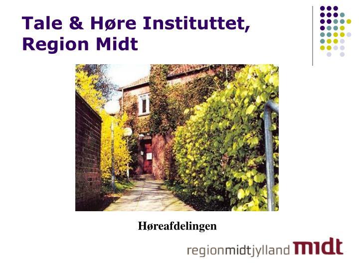 Tale h re instituttet region midt